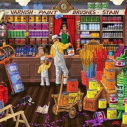 Пазл онлайн: В магазине красок