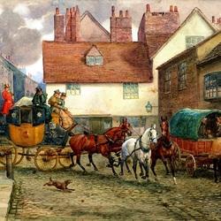 Пазл онлайн: Почтовая карета