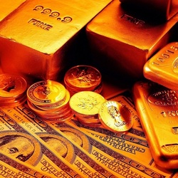Пазл онлайн: Золотые слитки и доллары
