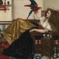 Пазл онлайн: Дама из Тути-наме, или Книги попугая