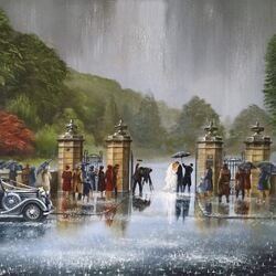 Пазл онлайн: Под дождем