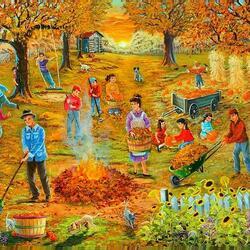 Пазл онлайн: Осенний субботник