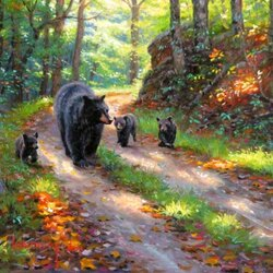 Пазл онлайн: Три медвежонка