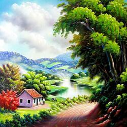 Пазл онлайн: Бразильский пейзаж