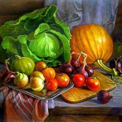 Пазл онлайн: Овощной натюрморт