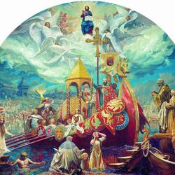 Пазл онлайн: Крещение Руси