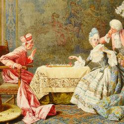 Пазл онлайн: Игра в шахматы с кардиналом