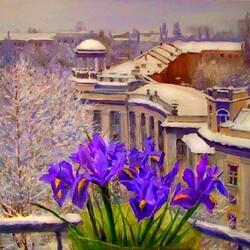 Пазл онлайн: Весна на отдельно взятом балконе