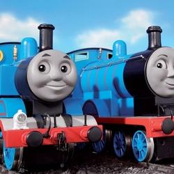 Пазл онлайн: Паровозики Томас и Эдвард