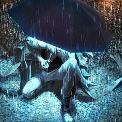 Пазл онлайн: Под зонтом
