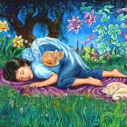 Пазл онлайн: Спящий ангелочек