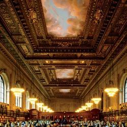 Пазл онлайн: Нью-Йоркская публичная библиотека