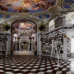 Пазл онлайн: Библиотека аббатства Адмонт