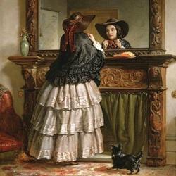 Пазл онлайн: У зеркала