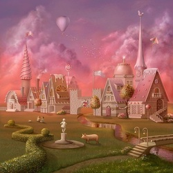 Пазл онлайн: Пряничные домики