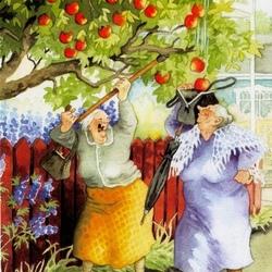 Пазл онлайн: Можно и яблочек отведать