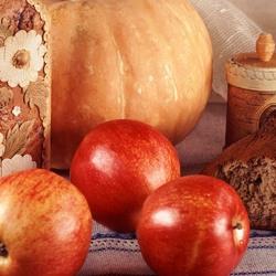 Пазл онлайн: Тыква и яблоки