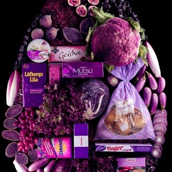 Пазл онлайн: Фиолетовая капля
