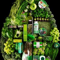 Пазл онлайн: Зеленая капля