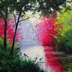 Пазл онлайн: Спокойная река