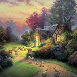 Пазл онлайн: Домик Доброго пастуха