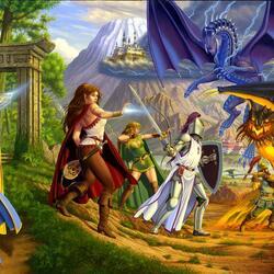 Пазл онлайн: Магическое сражение