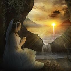 Пазл онлайн: Утренняя молитва