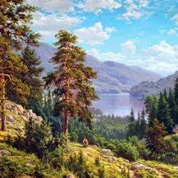 Пазл онлайн: Воспоминание о Сибири
