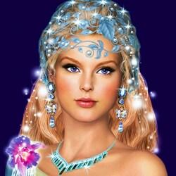 Пазл онлайн: Красивая девушка