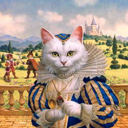 Пазл онлайн: Принцесса-кошка