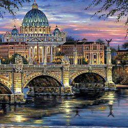 Пазл онлайн: Красота вечернего города