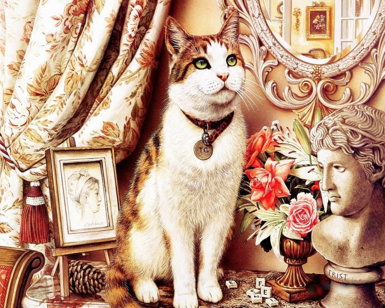 парикмахерская открытки с котом советский