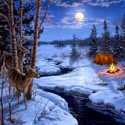 Пазл онлайн: Тени луны