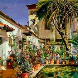 Пазл онлайн: Севилья. Атриум монастыря Санта Паула