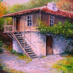 Пазл онлайн: Дом в заросшем саду