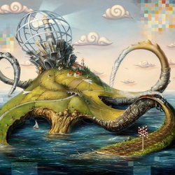 Пазл онлайн: Октопус