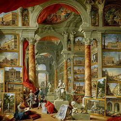 Пазл онлайн: Picture Gallery with Views of Modern Rome/Картинная галерея с видами современного Рима