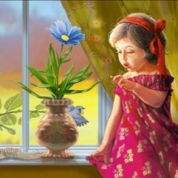 Пазл онлайн: Мой цветочек