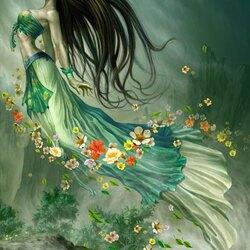 Пазл онлайн: Полет цветов
