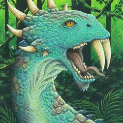 Пазл онлайн: Зеленый дракон