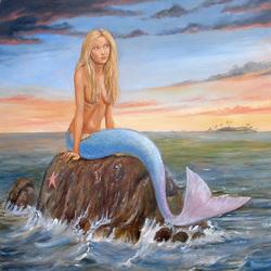 Пазл онлайн: Мечтающая русалка