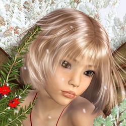 Пазл онлайн: Снежное дитя