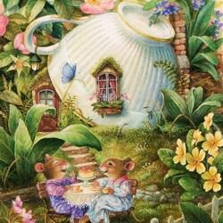 Пазл онлайн: Чайный домик