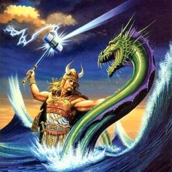 Пазл онлайн: Сражение викинга