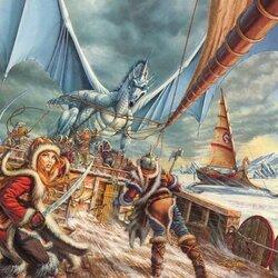 Пазл онлайн: Ледяной дракон