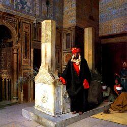 Пазл онлайн: Prayer at the Tomb/Молитва на могиле
