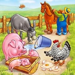 Пазл онлайн: Невнимательный фермер