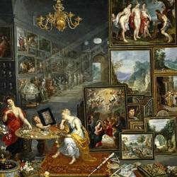 Пазл онлайн: ''Четыре элемента и пять чувств'' Аллегория Зрение и обоняние