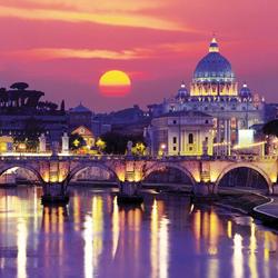 Пазл онлайн: Вечер в Риме