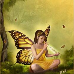 Пазл онлайн: Фея-бабочка